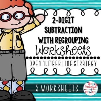 2-Digit Subtraction with Regrouping WORKSHEETS: Open Numbe