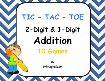 2-Digit and 1-Digit Addition Tic-Tac-Toe