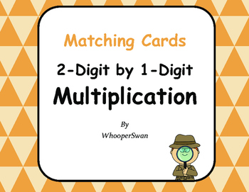 2-Digit by 1-Digit Multiplication Matching Cards