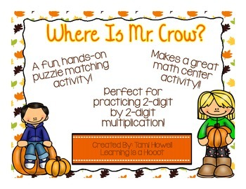 Multi-Digit Multiplication: 2-Digit by 2-Digit (Fall Theme