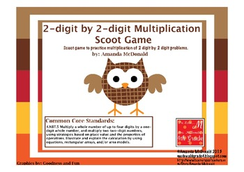 2-Digit by 2-Digit Multiplication Scoot Game