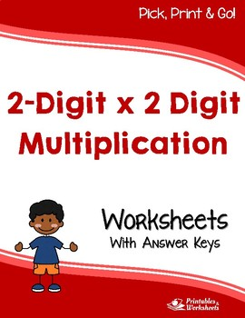 Two-Digit x Two-Digit Multiplication, Double Digit Multipl