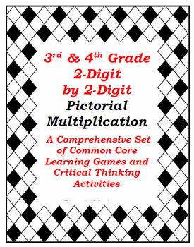 2-Digit by 2-Digit Visual Multiplication: Sets of Games &
