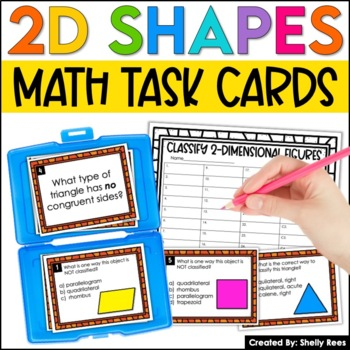2-Dimensional Shapes Classification Task Cards and Poster Set