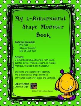2-Dimensional Shape Monster Book