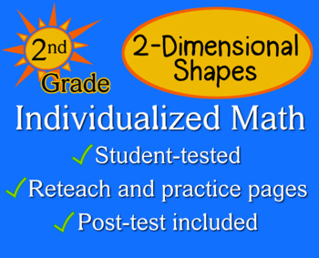 2-Dimensional Shapes, 2nd grade - Individualized Math - wo