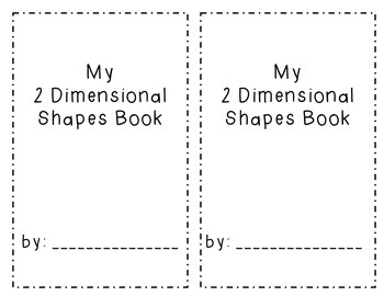 2 Dimensional Shapes Book