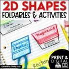 2D Shapes - 2-Dimensional Shapes Foldables Packet