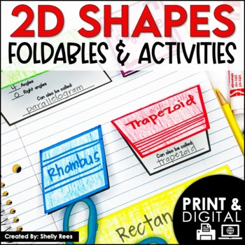 2-Dimensional Shapes Foldables Packet: Quadrilaterals, Triangles, Geometry