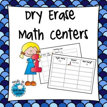 Dry Erase Math Centers