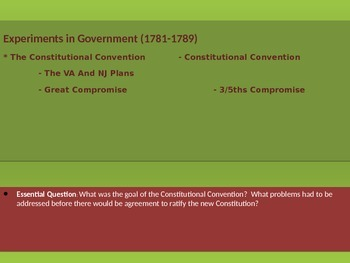 2. Experiments in Government - Lesson 2 of 6 - Constitutio