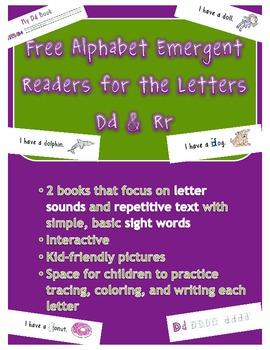 2 Free Alphabet Emergent Readers