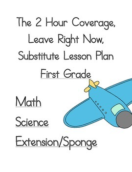 2 Hour No Prep Substitute Lesson Plan, First Grade, Set 4