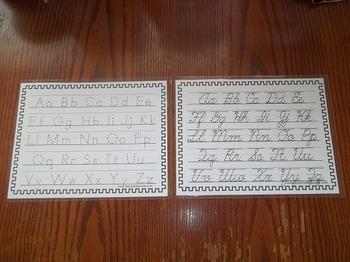 2 Laminated Alphabet Dry Erase Tracing Worksheets. Manuscr