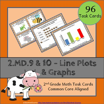 2.MD.9 & 2.MD.10 Task Cards: Line Plots & Graphing Task Ca