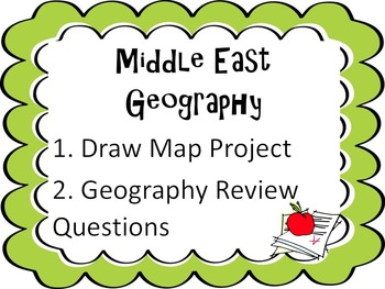 2 Middle East Geography Activties