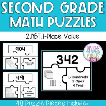 2.NBT.1 Puzzle Matching Activity