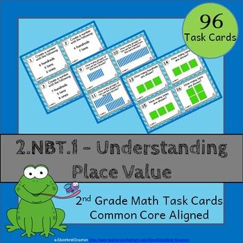 2.NBT.1 Task Cards: Place Value Task Cards 2.NBT.1 (2nd-Gr