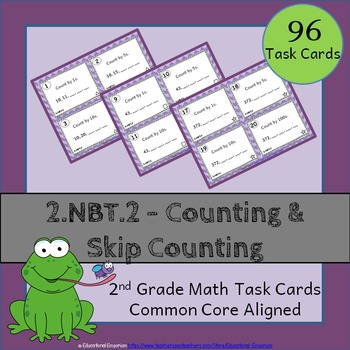 2.NBT.2 Task Cards - Counting & Skip Counting (Second-Grad