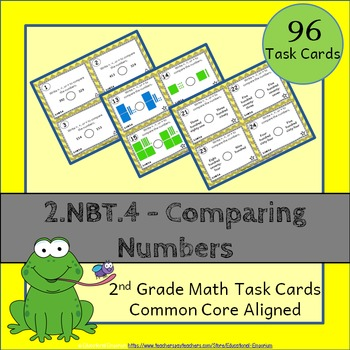 2.NBT.4 Task Cards - Comparing Numbers (Second-Grade Commo