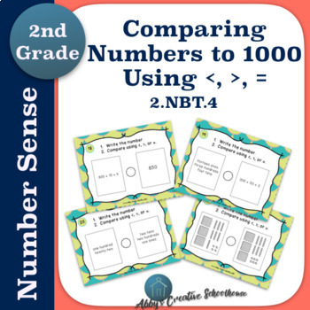 2.NBT.4 Task Cards - Comparing Numbers to 1000