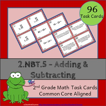 2.NBT.5 Task Cards - Adding and Subtracting Whole Numbers