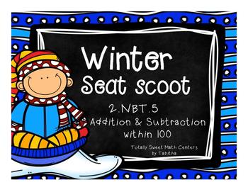 2.NBT.5 Winter Seat Scoot Class Activity- Addition / Subtr