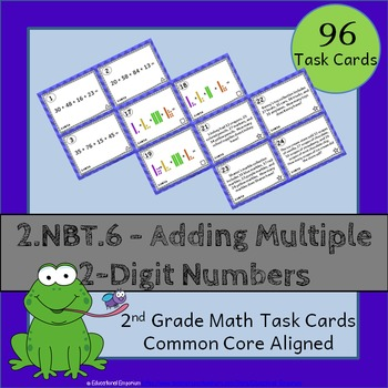 2.NBT.6 Task Cards: Adding Two-Digit Numbers Task Cards 2N