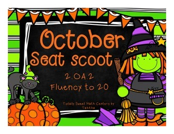 2.OA.2 October Seat Scoot Class Activity- Fluency to 20