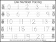 2 Owl themed Task Worksheets. Trace the Alphabet and Numbe
