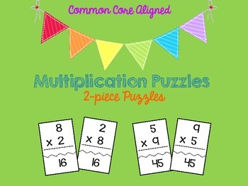 2-Piece Multiplication Puzzles