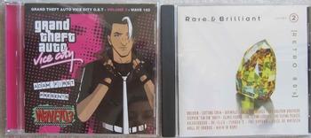 MUSIC CD RETRO 80S RARE & BRILLIANT + GRAND THEFT AUTO VIC