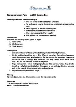 2 Session Drama workshops - Anger Management