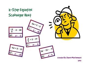 2-Step Equation Scavenger Hunt