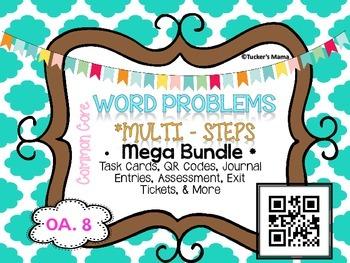 2 Step Word Problems Mega  Bundle