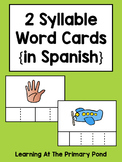 Spanish Syllables Practice with 2 Syllable Words {Palabras