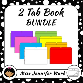 2 Tab Book Clipart BUNDLE