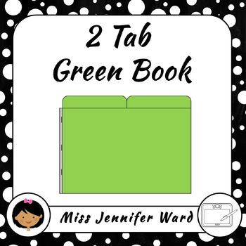 2 Tab Green Book Clipart