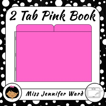 2 Tab Pink Book Clipart