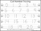 2 Task Worksheets. Cat themed Trace the Alphabet and Numbe