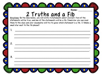 2 Truths and a Fib