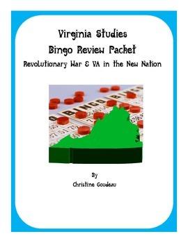 2 Virginia Studies SOL Review Bingo Games-Revolutionary Wa