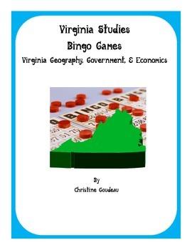 2 Virginia Studies SOL Review Bingo Games-VA Geography, Go