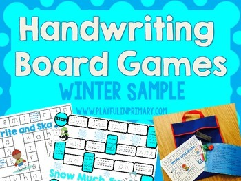 2 Winter Handwriting Games: FREEBIE!