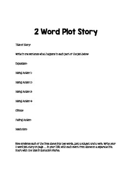 2 Word Story Strategy