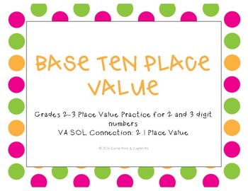 2 and 3 Digit Base-Ten Block Place Value Practice