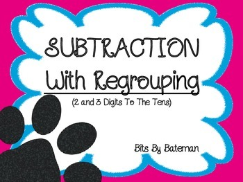 2 and 3 Digit Subtraction with Regrouping