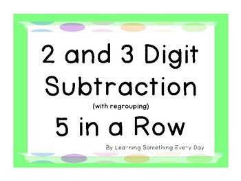 2 and 3 Digit Subtraction Game