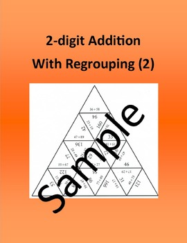 2-digit Addition With Regrouping (2) – Math puzzle