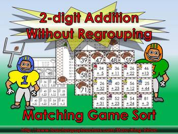 2-digit Addition Without Regrouping Matching Game Sort - F